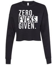 Load image into Gallery viewer, black zero cropped sweatshirt