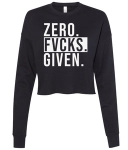 black zero cropped sweatshirt