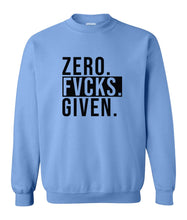 Load image into Gallery viewer, blue zero FG sweatshirt