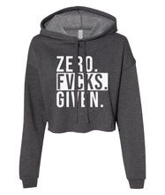 Load image into Gallery viewer, charcoal zero cropped hoodie
