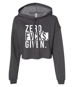 charcoal zero cropped hoodie