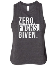 Load image into Gallery viewer, charcoal zero FG women's cropped tank top