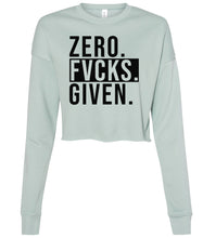 Load image into Gallery viewer, dusty blue zero cropped sweatshirt