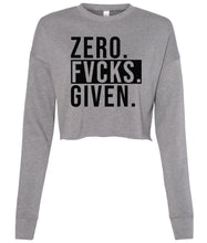 Load image into Gallery viewer, grey zero cropped sweatshirt