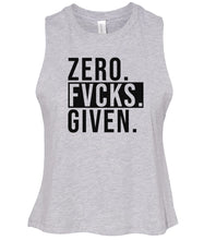 Load image into Gallery viewer, grey zero FG women's cropped tank top