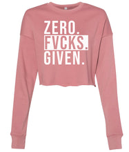 Load image into Gallery viewer, mauve zero cropped sweatshirt