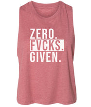 Load image into Gallery viewer, mauve zero FG women's cropped tank top