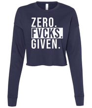 Load image into Gallery viewer, navy zero cropped sweatshirt