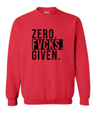 Load image into Gallery viewer, red zero FG sweatshirt