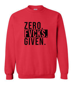red zero FG sweatshirt