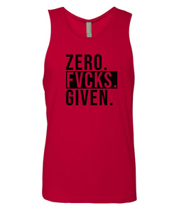 red zero FG tank top