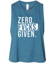 Load image into Gallery viewer, teal zero FG women's cropped tank top