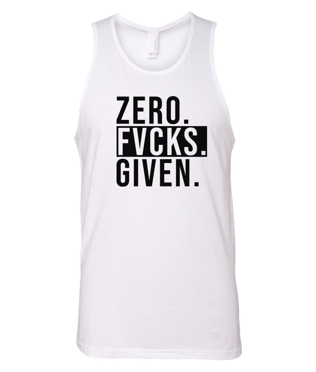 white zero FG tank top