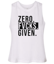 Load image into Gallery viewer, white zero FG women's cropped tank top