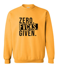 Load image into Gallery viewer, yellow zero FG sweatshirt