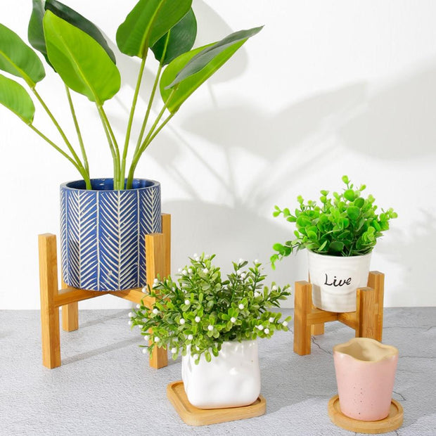 Bamboo Plant Stand - jxnfrd