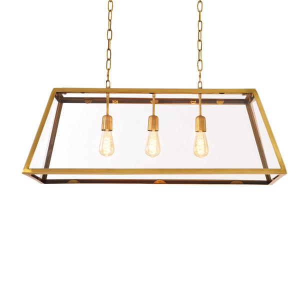 Lamp harpers L antique brass finish