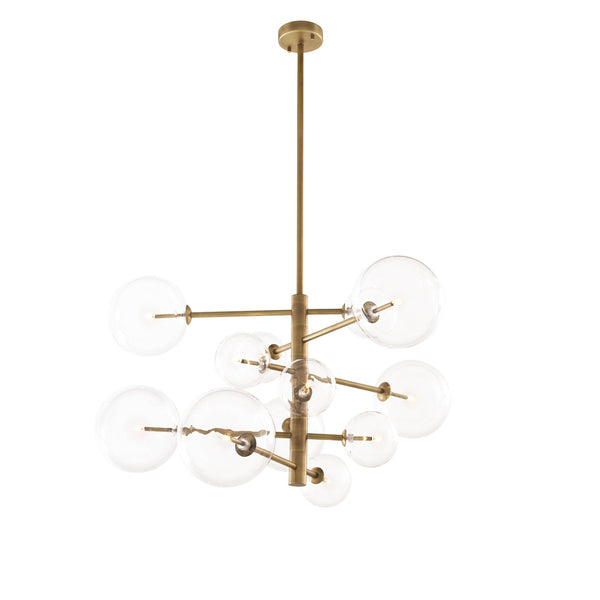 Chandalier argento S antique brass finish