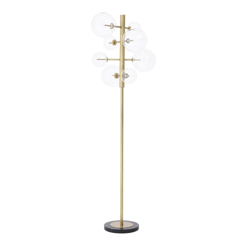 Floor lamp argento antique brass finish