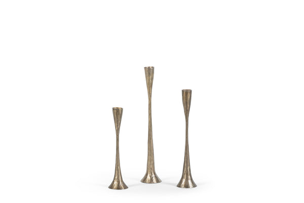 Handforged table candle holder (S) antique brass 6 x 24 cm