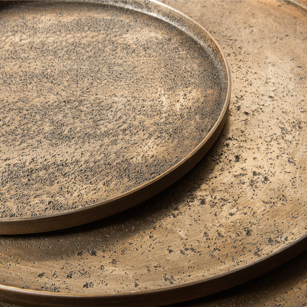 Antique gold plate sand texture S