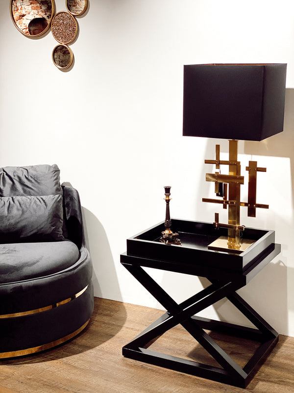 Side table Mcarthur waxed black finish