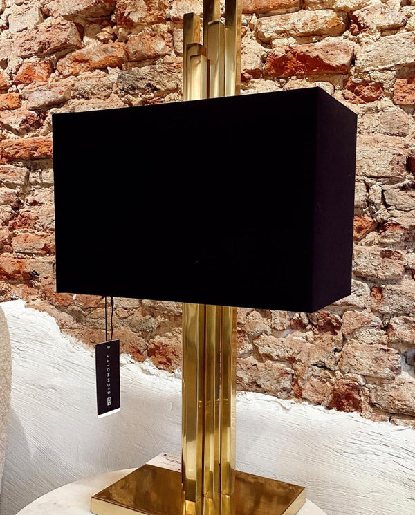 Table lamp caruso polished brass inc shade