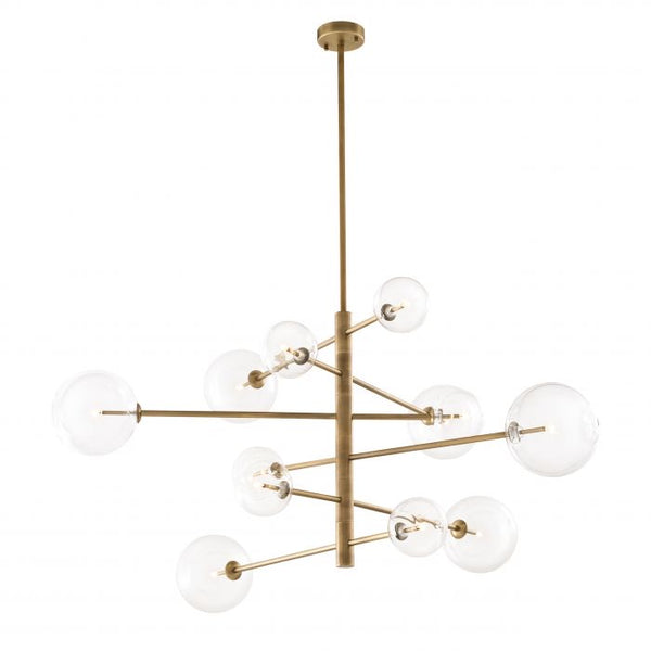 Chandalier argento L antique brass finish