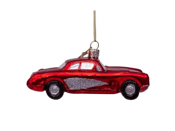 Ornament glass red car