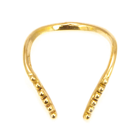 DOTTED BAND RING / GOLD
