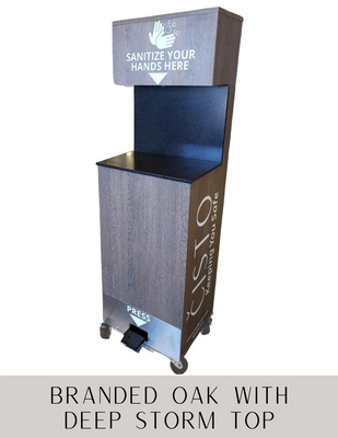 Cisto mobile hand sanitizer station manufactured by PPE supplier, Archmill House Inc.
