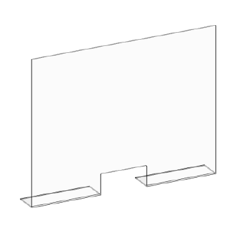High-quality counter mounted acrylic sneeze guard from PPE supplier, Archmill House Inc.