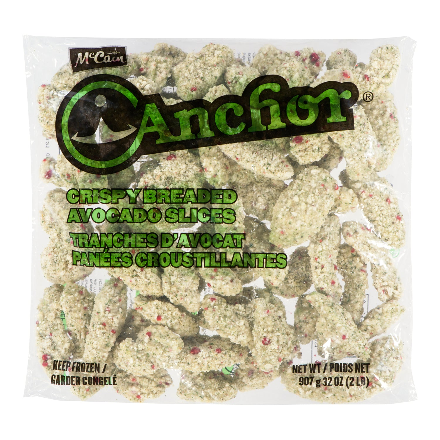 Anchor Frozen Crispy Avacado Appetizer 900 gr Breaded - 4 Pack [$21.01/kg]