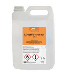 PLUM 5 liter Hånddesinfektion 85% GEL