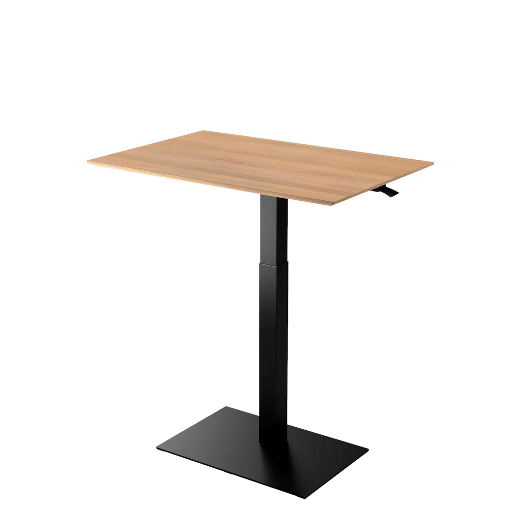Height adjustable desk Mahtuva XL Oak with black base is good choice for remote workers by Selkastore