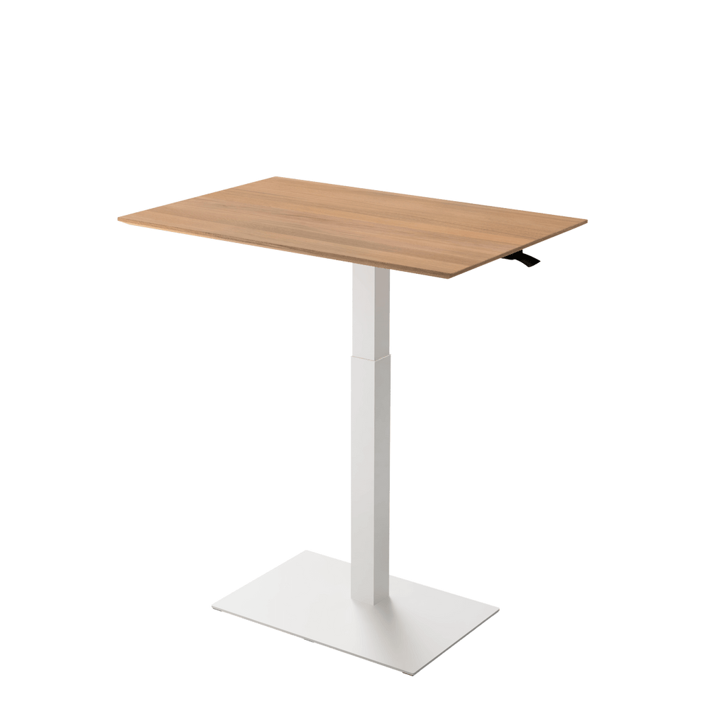 Height adjustable desk Mahtuva XL Oak with white base is good choice for remote workers by Selkastore