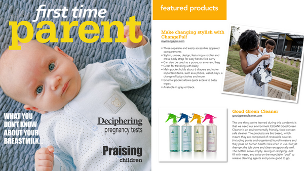 Featured in First Time Parent Magazine