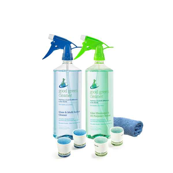 Odor Eliminator & All-Purpose Cleaner + Glass & Multi Surface Cleaner Value Pack