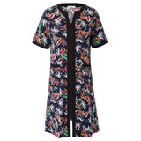 Women Robes Clothes Zip-up Lounge Wear Sleep Dress