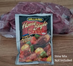 Stew Meat 2# (Stew mix sold separately) ***ON SALE***