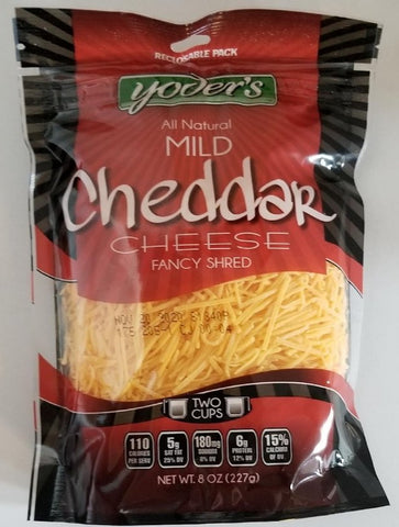 Shredded Cheddar Fine 8oz Yoder's