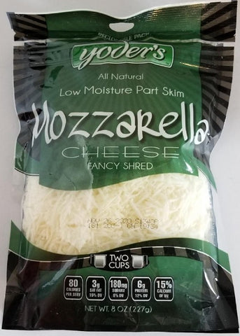 Shredded Mozzarella 8oz Yoder's