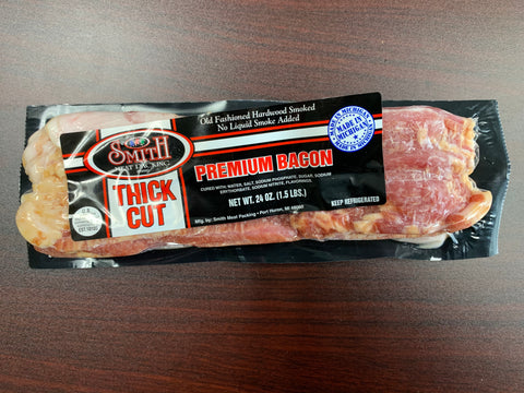 Smith Premium Smoked Thick Cut Bacon 1.5lb.