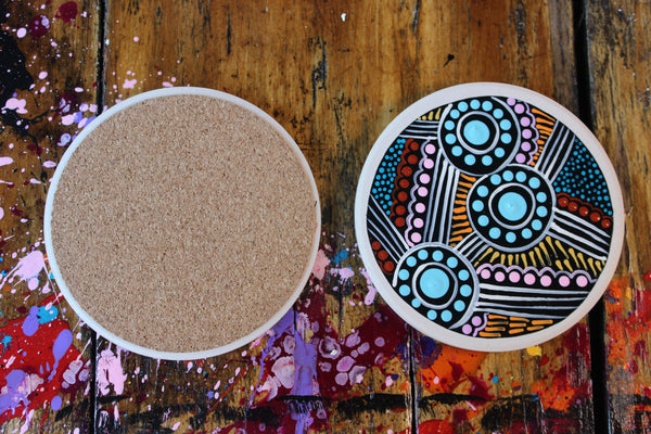 Water Hole Dreaming Coaster Set