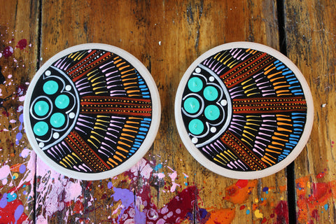 Desert Dreaming Ceramic Coaster Set