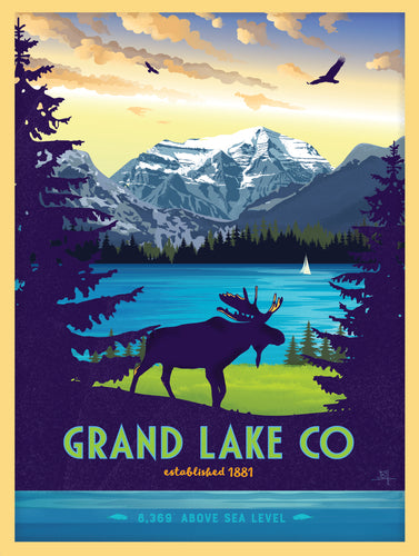 Grand Lake Colorado Poster - Summer