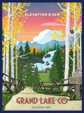 Grand Lake Colorado Poster - Fall