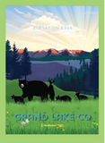 Grand Lake Colorado Postcard - Spring