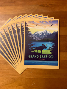 Grand Lake Colorado Postcard - Summer