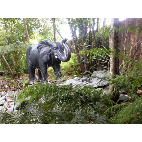 ELEPHANT WATER FEATURE STATUE (FIBER CEMENT 150CMS)